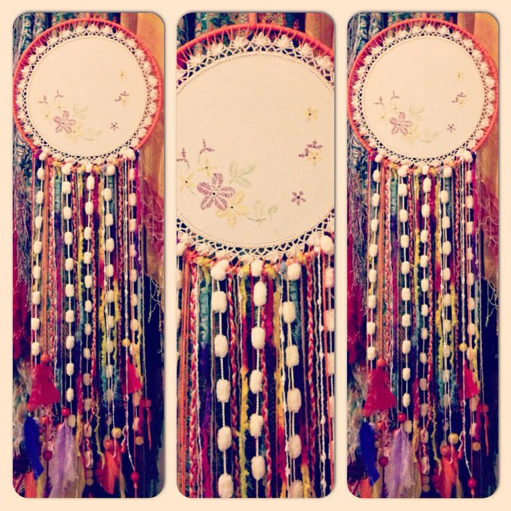 #dreamcatcher #doilies #vintage #bohemianstyle #craft #diy