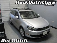 Volkswagen Jetta Sportwagen Thule Rapid Crossroad SILVER AeroBlade Roof Rack '09-'14*
