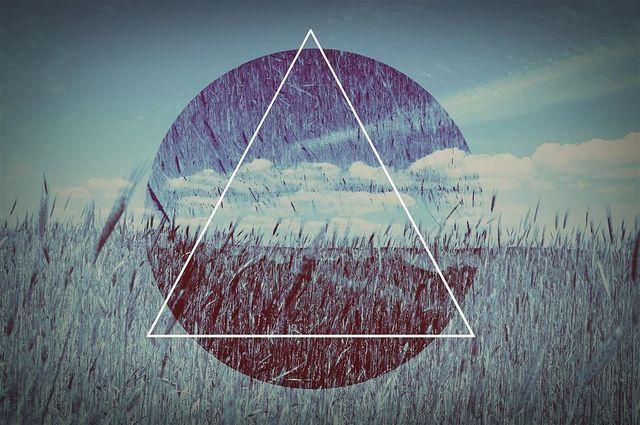 Triangle, nature, graphic design