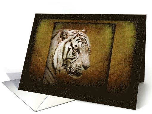 White Tiger Visionary - animals wildlife fine art Blank Note card by Steppeland