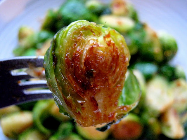 Spicy garlicky brussel sprouts