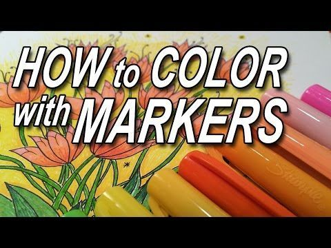 How to Color with Markers - YouTube