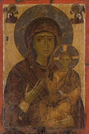 Icon of the Virgin Hodegetria, last quarter of 12th century, tempera and silver on wood, Kastoria, Byzantine Museum