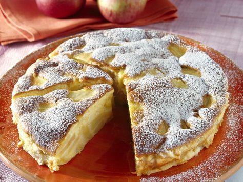 Italienischer Apfelkuchen - Eine feine Variation des Apfelkuchens auf italienische Art, die ohne großen Aufwand gelingt. Italienischer Apfelkuchen Dessert..