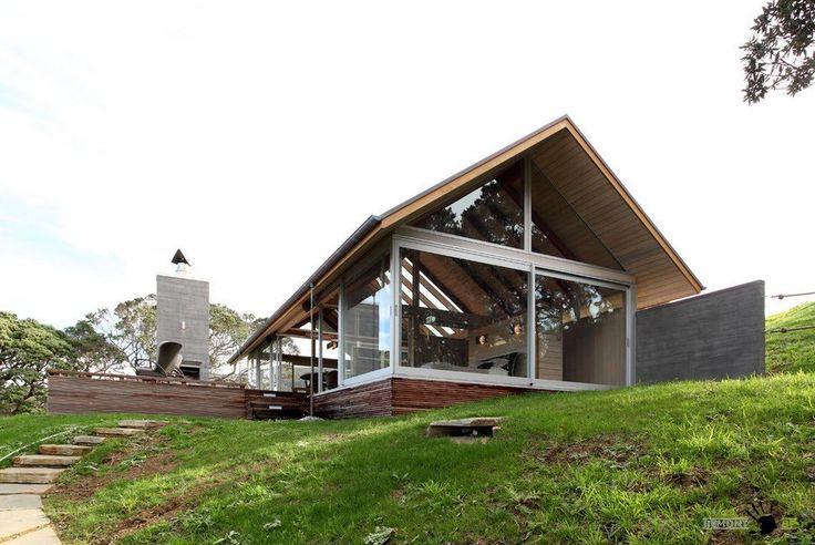 Уникальный дизайн стеклянного дома в Новой Зеландии