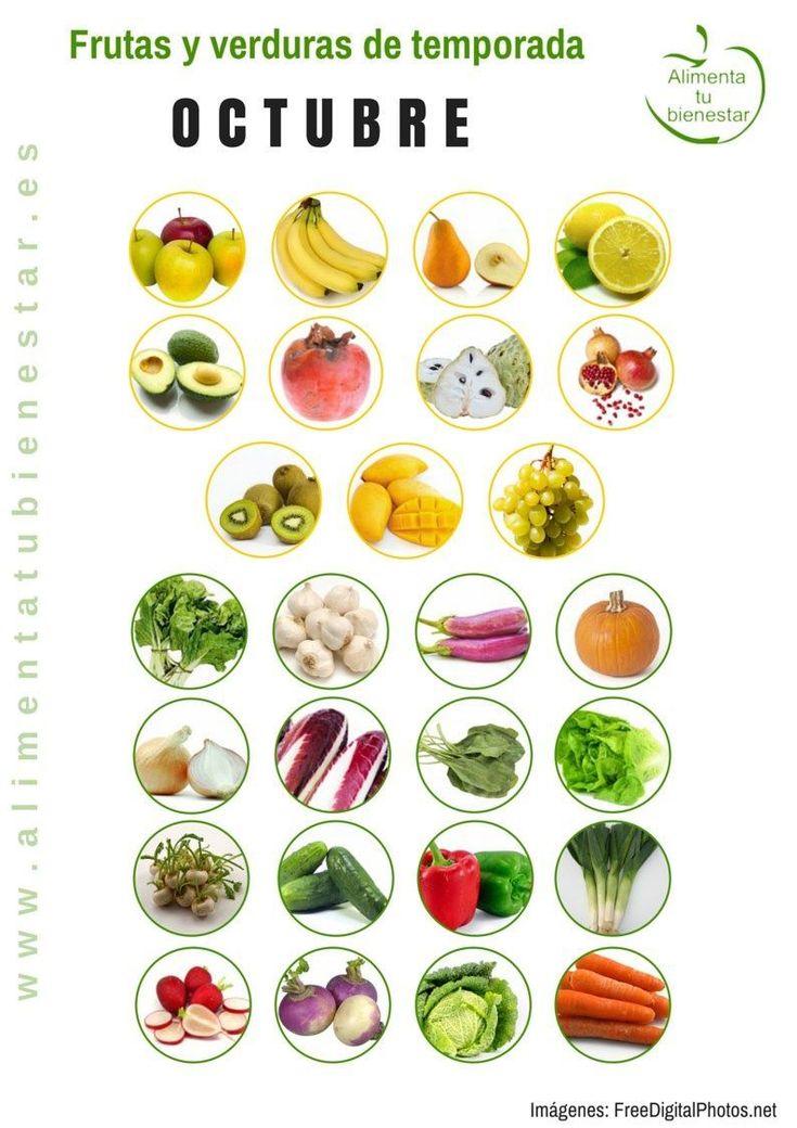 Frutas y verduras de temporada para octubre