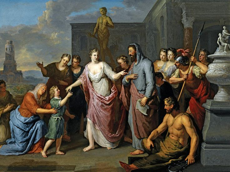 Olympia Presenting The Young Alexander The Great To Aristotle Painting by Gerard Hoet