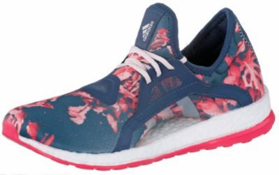 adidas PureBoost X Laufschuhe Damen blau/pink