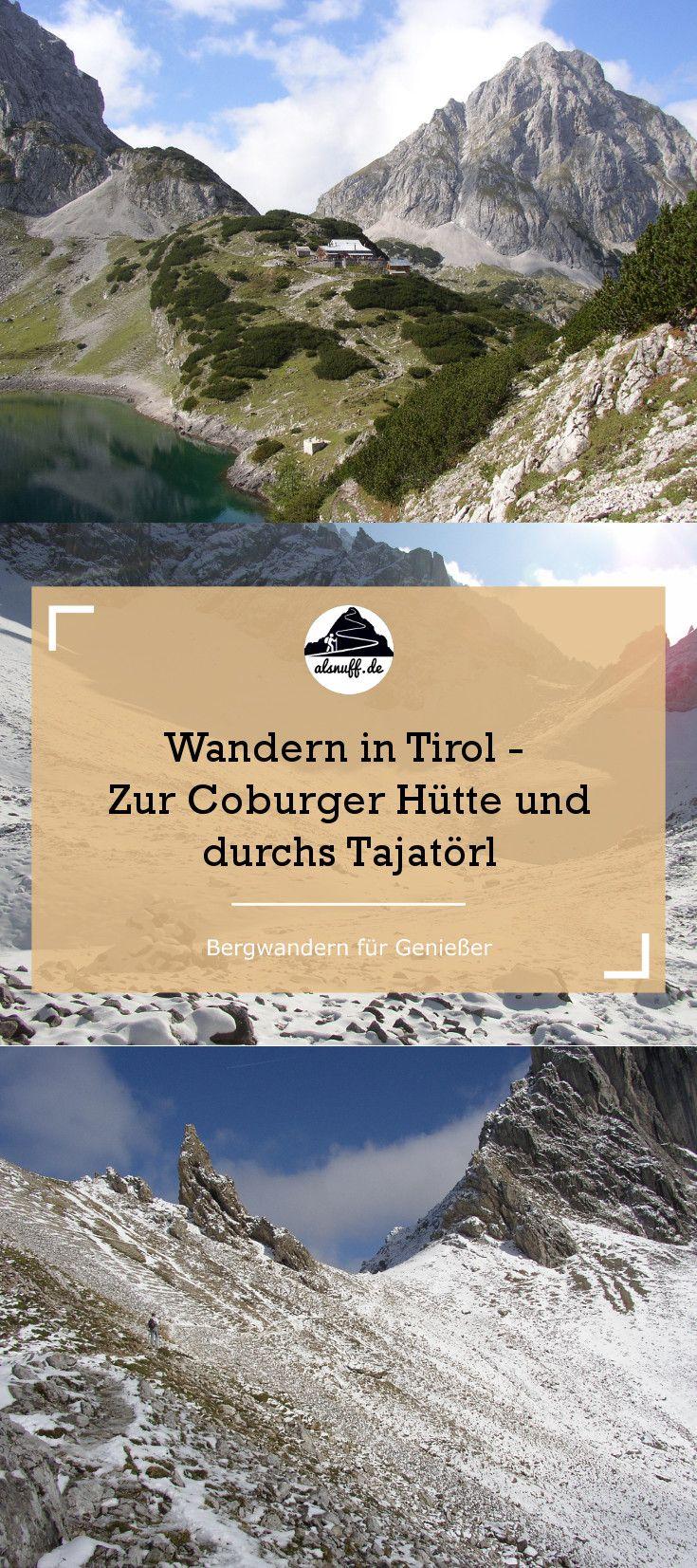 Tageswanderung von Ehrwald zur Coburger Hütte, vorbei am Drachensee übers Tajatörl. #Tirol #wandern #berge #alpen #österreich #outdoor