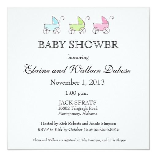 It's Triplets Baby Shower Card