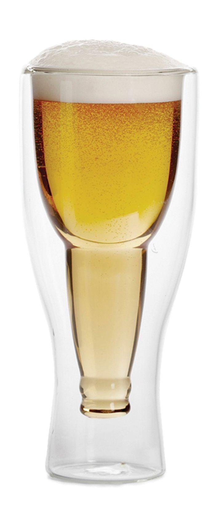 Upside down beer glass //