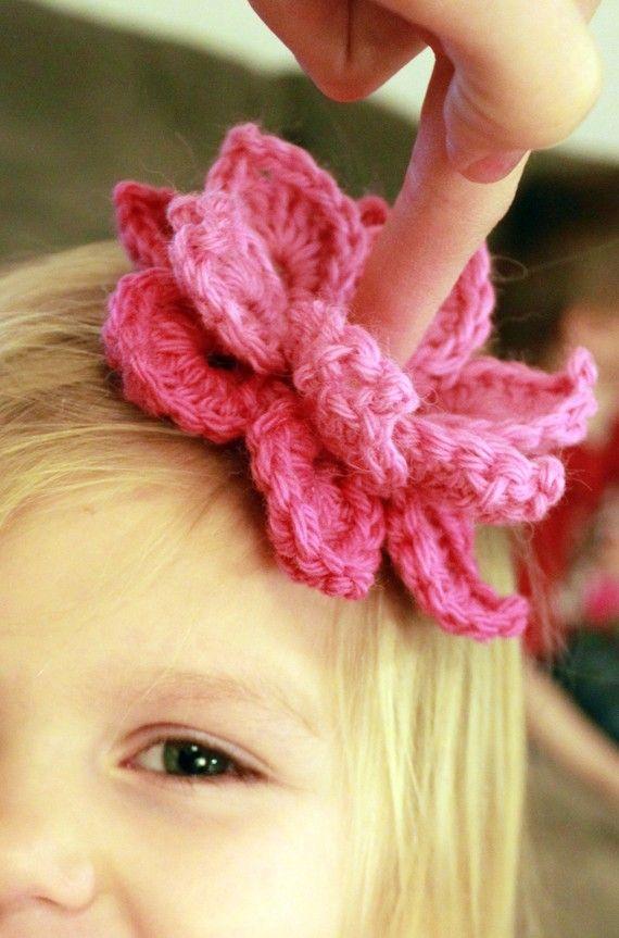 Flower Shower PDF Crochet Patterns (4 flowers embellishments and leaves)
