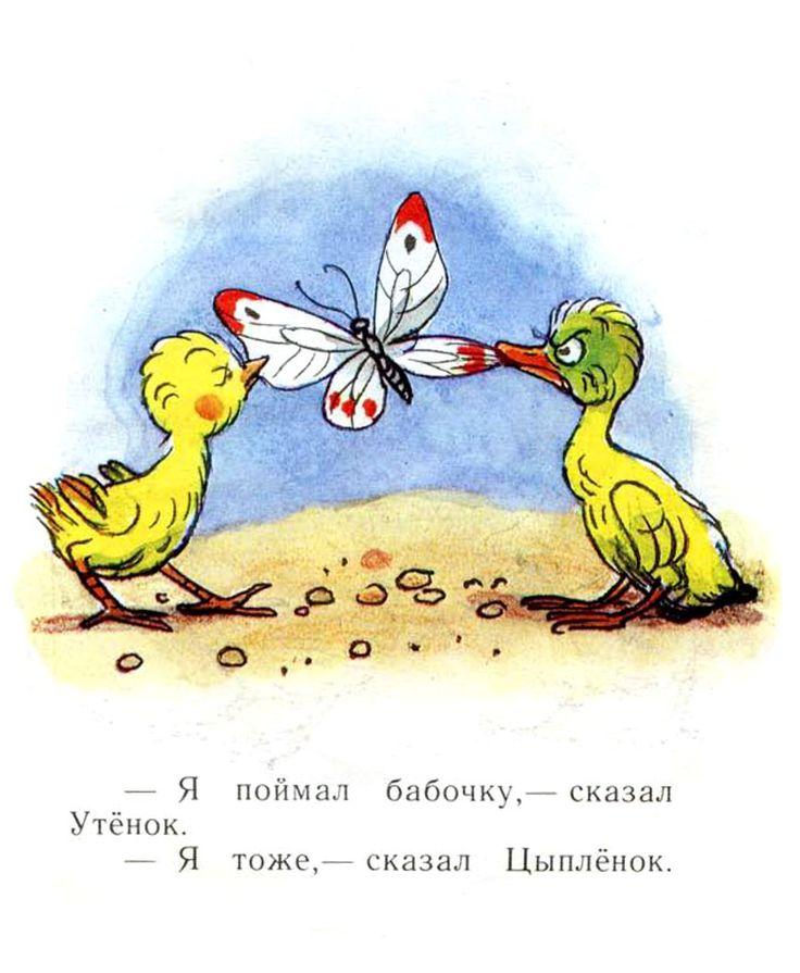 """Владимир Сутеев «Цыпленок и Утенок»   """"Картинки и разговоры"""""""