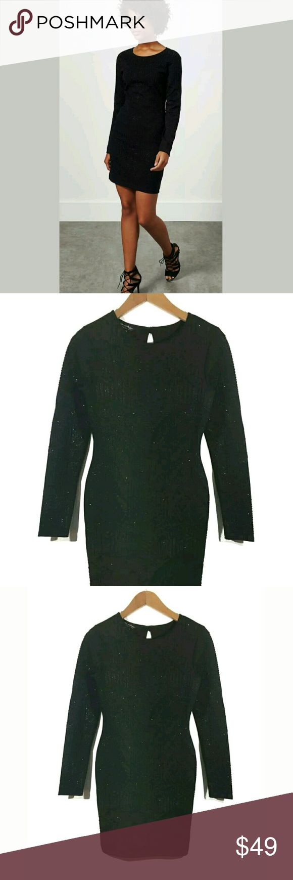 Miss Selfridge Dress SZ 6 Long Sleeve Caviar Bea Miss Selfridge Dress Size 6 Long Sleeve Caviar Beaded Stretch Bodycon Black   Excellent used condition.   15.5 inches pit to pit.  26 inch waist.  32 inch hips.  35 inches long.   Pre-owned item condition. Item has little to no signs of wear unless specifically stated. Please carefully review item details and uploaded pictures for details of this item before bidding or buying. Item is functional and ready for your closet!    LB Miss Selfridge…