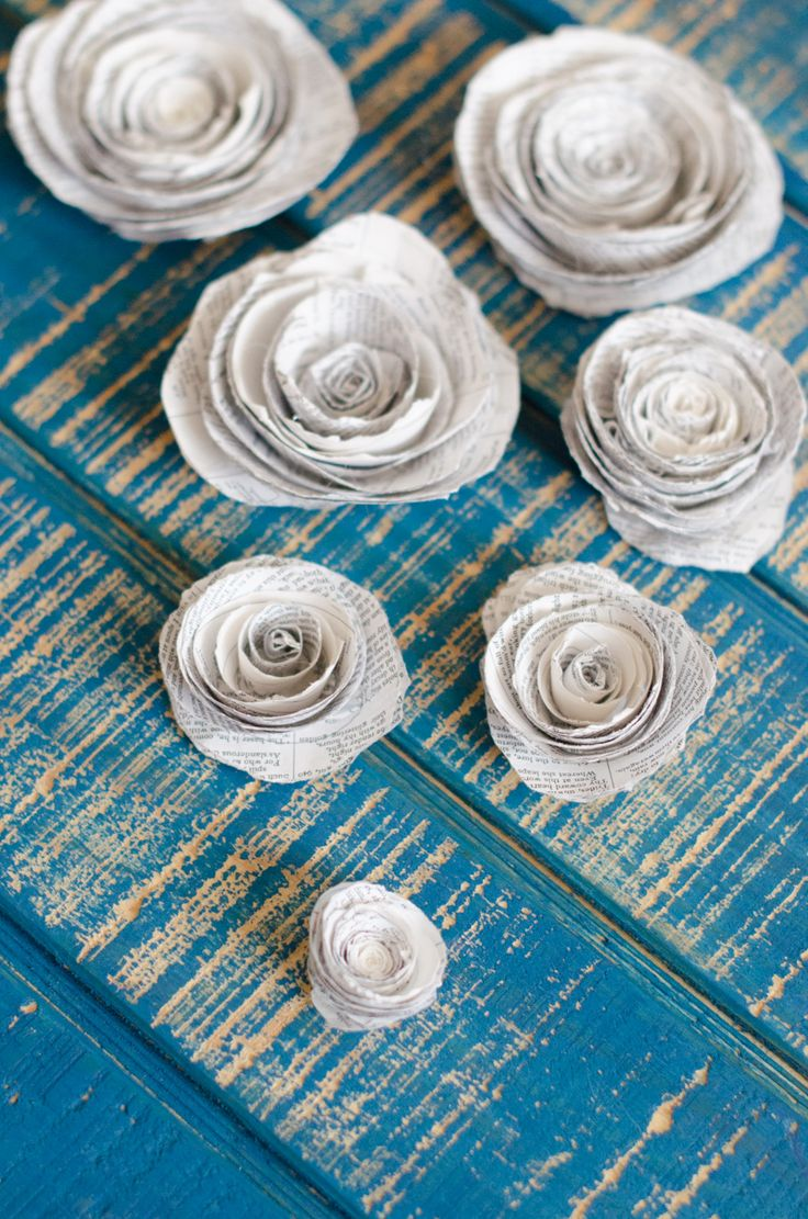 How to make Book Page Rosettes from DaisyAtHome.com