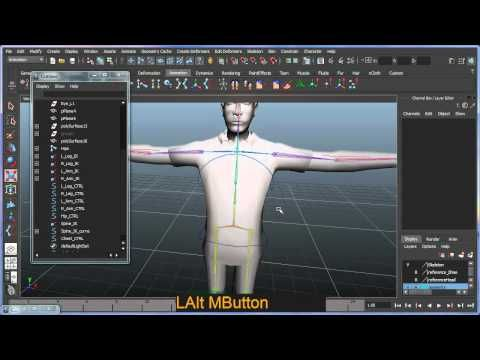 Basic bipedal character rigging setup in Maya - Part 5 of 8 - YouTube