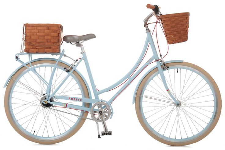 PUBLIC Market C8 with rear rack, rack basket, bike basket, brown seat, Duracork grips, and a brass bell. *drool*Bicycles, Dreams Bikes, Public Marketing, Farmers Marketing, Baskets, Public Bikes, Products, Beach Cruiser, Marketing Bikes