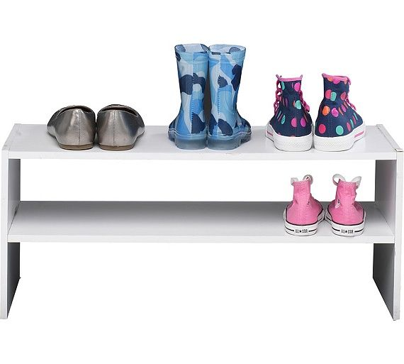 Buy HOME 2 Tier Internal Wardrobe Shoe Storage Rack - White at Argos.co.uk - Your Online Shop for Shoe storage, Storage, Home and garden.