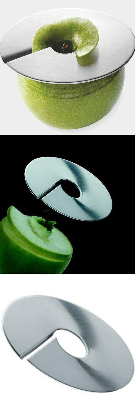 Make spiral apple slices