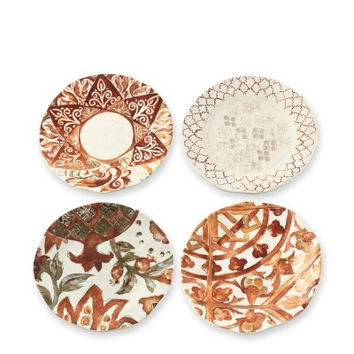 Envisioning which foods would taste even more delicious on these Morocco Tile Salad Plates, #WilliamsSonoma.