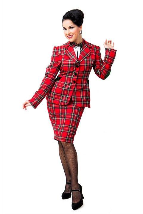 Chaqueta BUDDY. Chaqueta de cuadros escoceses,con coderas de terciopelo,y botones de terciopelo. Falda BUDDY TUBO. Falda de tubo de cuadros escoceses, con botones forrados de terciopelo. #Presumidas #AndreaPalau #soypresumida #PresumidasElegance #moda #moda50s #años50 #1950sfashion #ropavintage #m#pinup #pinupgirl #fiftties #fifttiesstyle #fifttiesgirl #cool #estampadosvintage odavintage #vintagestyle#vintageoutfits #vintagetrends
