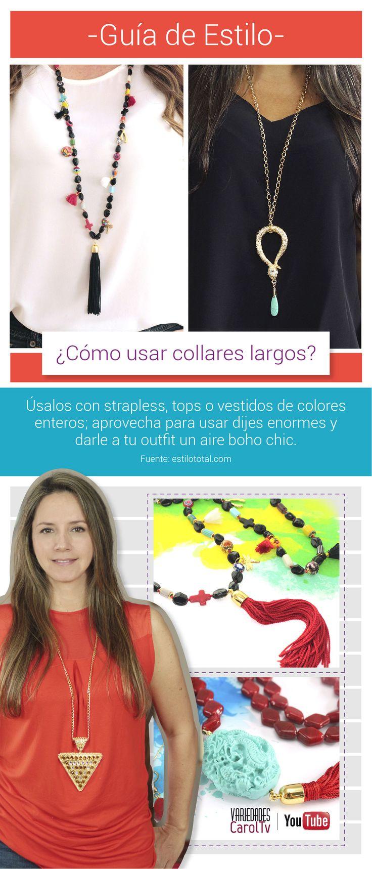 Te damos tips y te contamos la mejor manera de llevar tus accesorios como toda una diva :) Visita nuestro canal Variedades CarolTv haciendo clic en el pin y encuentra muchas ideas para que te inspires. #Bisutería #Insumos #Accesorios #Moda #Tendencia #Joyas #Color #Tendencias #Diseños #CarolTv #DIY #Pulseras #Collares #Dijes #2016 #Swarovski #Cadenas #Tejidos #Exclusivo #Colombia #Borlas #Diseñadores #Kit #Emprendedor #YouTube #Negocio