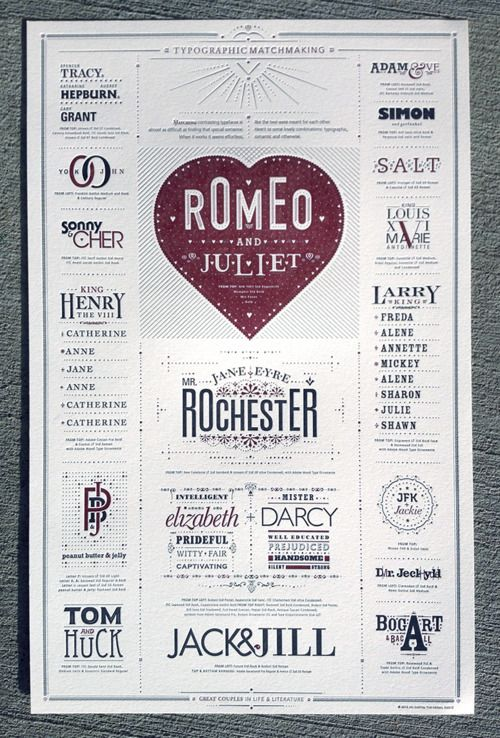 Typographic Matchmaking Poster: Matchmak Posters, Types Posters, Picture-Black Posters, Typography Posters, Posters Design, Graphics Design, Typographicmatchmak, Typographic Matchmak, Design Blog