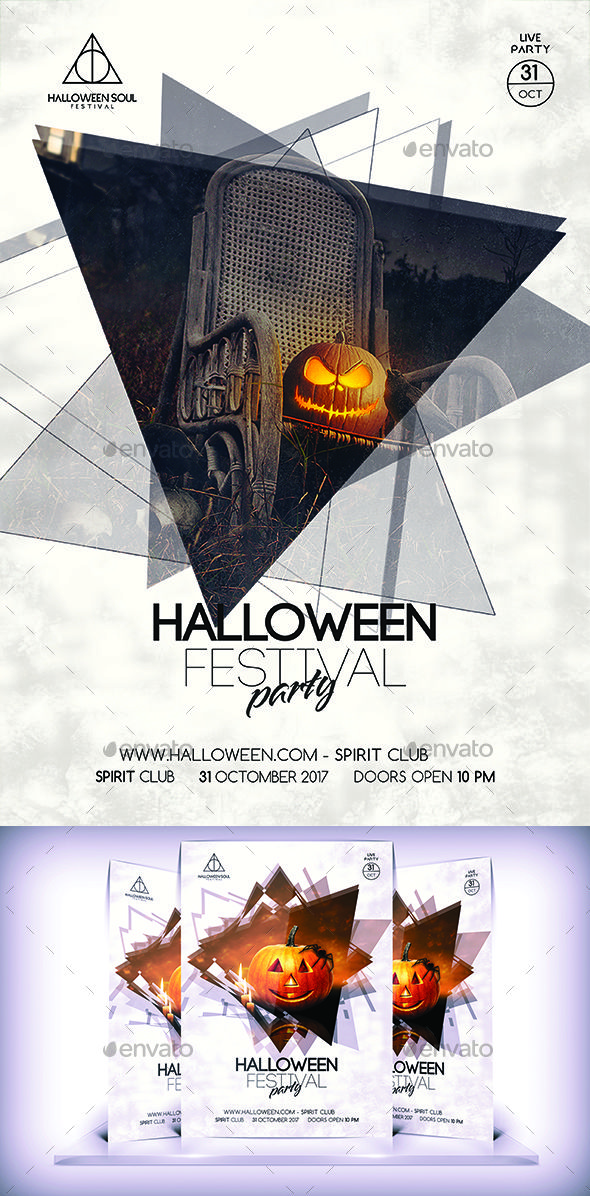Halloween Flyer  — PSD Template #cata05 #flyer • Download ➝ https://graphicriver.net/item/halloween-flyer/18374636?ref=pxcr