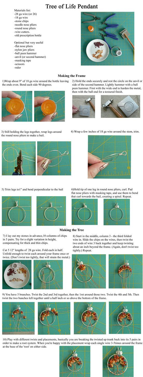 Simple Wire Wrap Tree Tutorial by *magpie-poet on deviantART