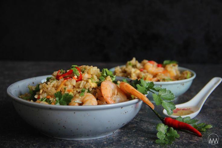V kuchyni vždy otevřeno ...: Thajská smažená rýže s krevetami a pikantní zálivk...