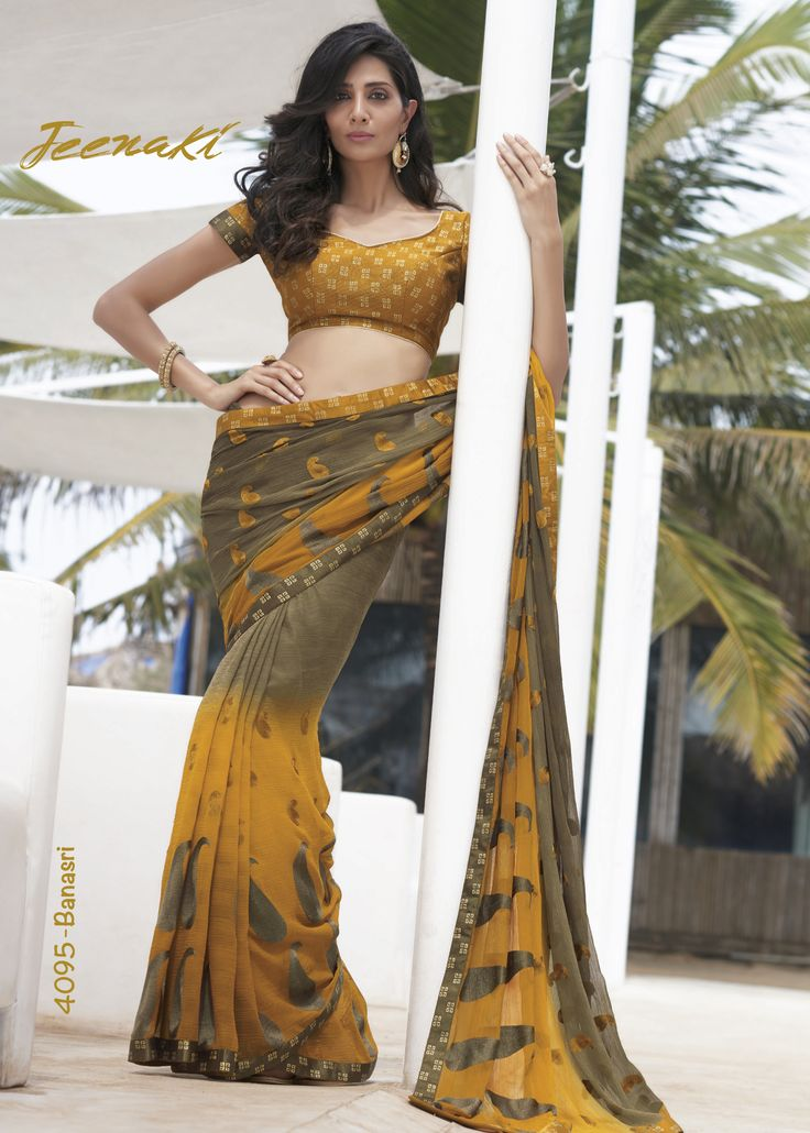 Yellow-Beige Chiffon with Thread Work Party Wear Saree With Jute Foil Blouse at Lalgulal.com ‪#‎Price‬ :- 3,303/- inr. To ‪#‎Order‬ :- http://goo.gl/BmT7fB To Order you Call or ‪#‎Whatsapp‬ us on +91-95121-50402 COD & Free Shipping Available only in India.