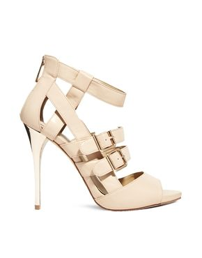 New Look Tab Cream Heeled Sandals