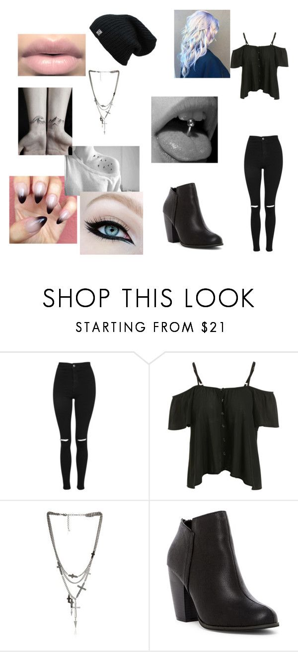 """Tattooed rocker girl"" by blackshadows-i ❤ liked on Polyvore featuring Topshop, Steve Madden, Michael Antonio and ASAP"