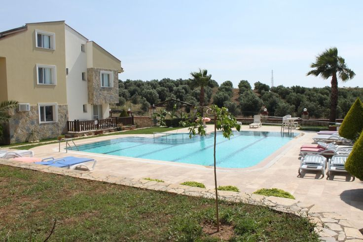 April 2017 - Olivium Duplex Apartment, Altinkum -  This lovely complex is set a little outside Altinkum, is in a lovely spot and close to the Ancient temple of Apollo, and surrounded by Olive trees. This is a lovely Duplex which is being sold fully furnished is split on two floors, on entering the property you will find a nice hallway, from this is all the sleeping accommodation, three double bedrooms, all with air conditioning, there is a very large family bathroom with walk in shower.