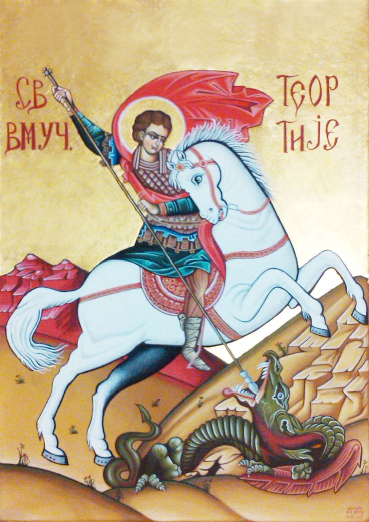 Byzantine icon of Saint George who was a soldier in the Roman army and was later venerated as a Christian martyr. Icon by Ikon Atelier.  www.ikonatelier.com.au