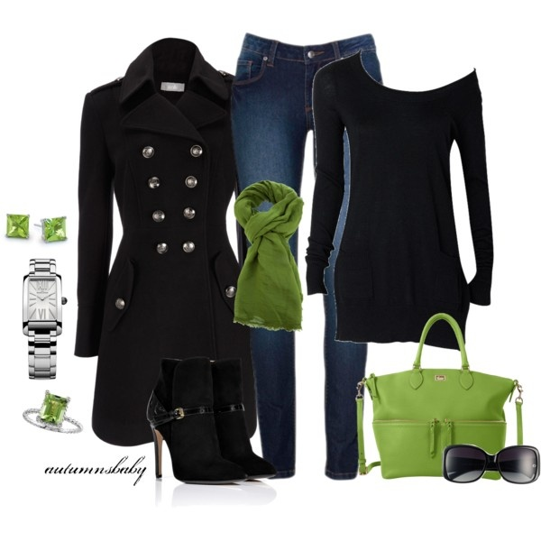 love the green scarf with black...might want to find it cheaper than 250 bucks tho. :)