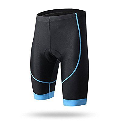 West Biking 3D Padded Cycling Shorts Bike Compression Tights Bicycle Breathable for Men and Women Light Blue 2XL