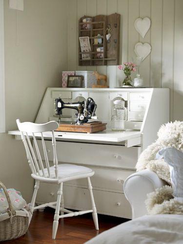 a sewing corner