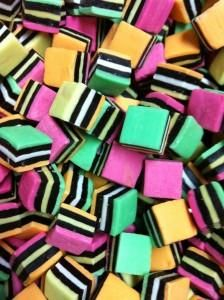 Delightful liquorice allsorts make liquorice so much fun. Each morsel is slightly different, whilst retaining that one all important ingredient.