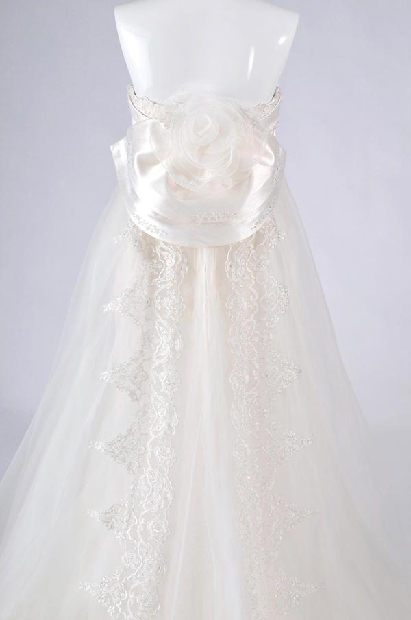 【楽天市場】ウェディングドレス レンタル 9号「エンパイア&マーメイド2WAYドレス」em004【人気のエンパイアライン。シンプルでかわいいウェディングドレスは、なんとパーツを外すと大人なマーメイドドレスに変身しちゃいます!】:留袖格安レンタルshopしあわせ創庫