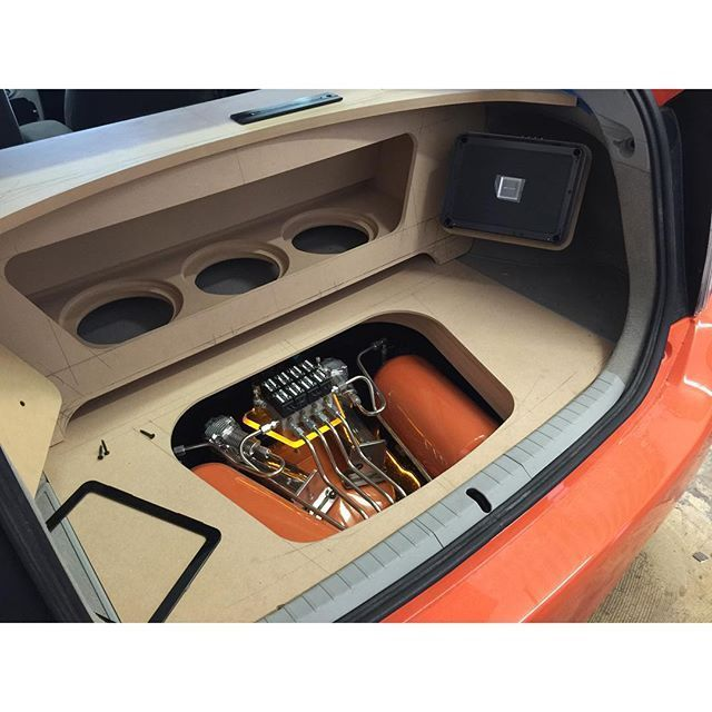 Airrex Digital Suspension USA Toyota Prius Airride Car Audio Trunk Install  Down Firing Subs Woofers Alpine Usa: