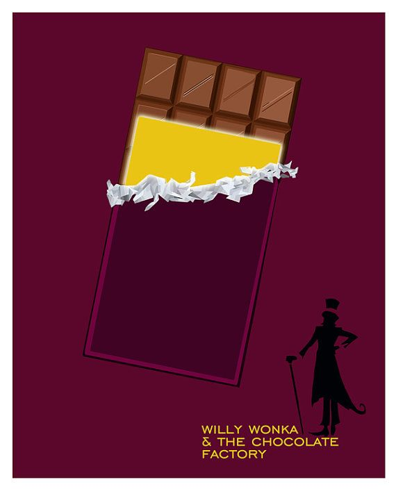 Willy Wonka Poster  The Golden Ticket   Fan by PurpleCowPosters