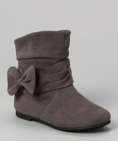 Gray Post Bow Boot by Lucky Top