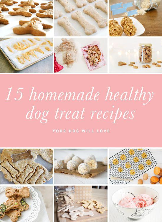 15 Homemade Healthy Dog Treat Recipes   Pretty Fluffy   www.prettyfluffy.com