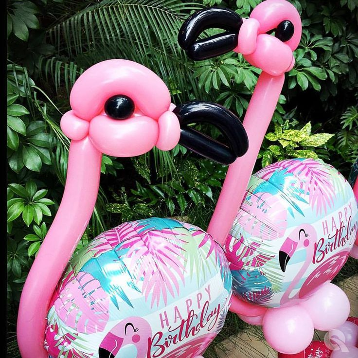 Qualatex Birthday Pink Flamingo 18 Microfoil 14