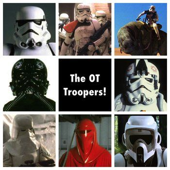 It'll blow your mind. According to Wookieepedia: 60 Stormtrooper types, 69 Clone Trooper types, and 18 Dark Trooper types. What?? Punch it! 147