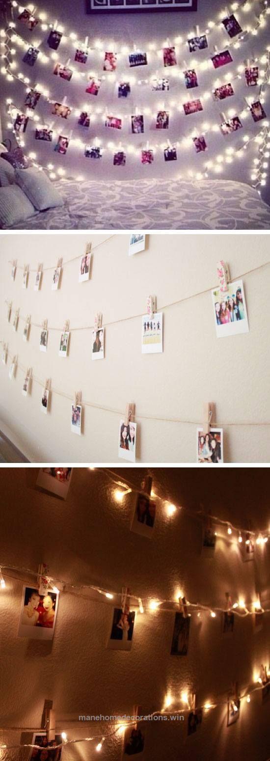 Wall String Lights For Bedroom: Best 25+ Polaroid Wall Ideas On Pinterest
