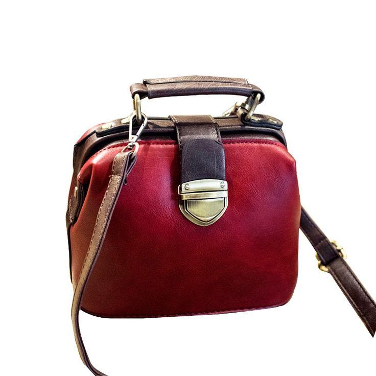 17.99$  Buy here - http://alicus.shopchina.info/1/go.php?t=32789231165 - 2017 New Retro Handbag Tote Purse Vintage Shoulder Bag Women Crossbody Bags Doctor Bag Women Messenger Bags Shoulder Handbags   #aliexpress