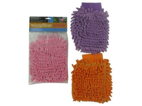 Microfiber Glove - Case of 48 by Bulk Buys. $67.68. The microfiber glove is excellent for surface dusting and cleaning. Forms a cleaning surface 40 times greater than regular cotton. Comes in assorted colors pink, orange and purple. Machine of hand wash but do not use softener. Packaged in a poly bag with header card. Fits most hands.
