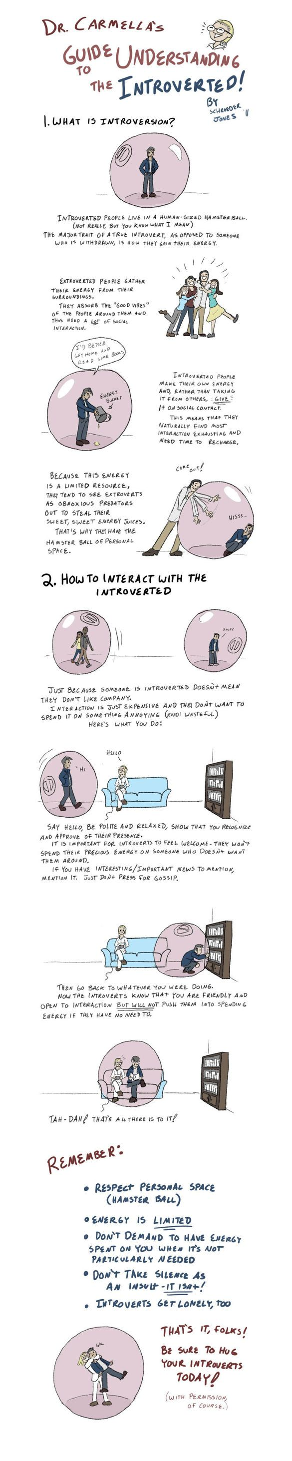 Dr. Carmella's Guide to Understanding the Introverted by Schroeder Jones: Remember This, Guide To, Hamsters, Funny, Truths, So True, Introvert, People, True Stories